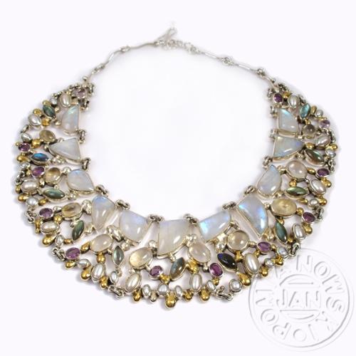 10970b801473a7 kolia,duży naszyjnik,srebrna kolia - Naszyjniki - Biżuteria w ArsNeo