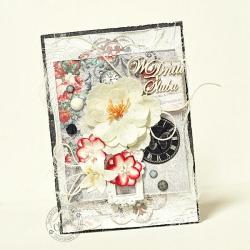 ślub,ramka,zegar,kwiaty - Kartki okolicznościowe - Akcesoria