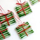 Ceramika i szkło zielone bombki,szklane,na choinkę,ozdoby