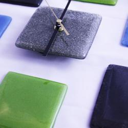 szklany zegar design prezent loft industrial art - Zegary - Wyposażenie wnętrz