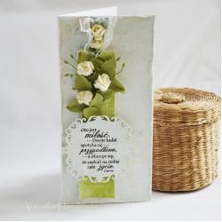 Ślub,kartka,romantycznie - Kartki okolicznościowe - Akcesoria