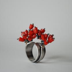 wesoła,oryginalna,obrączka,nitza,kwiatowa - Pierścionki - Biżuteria