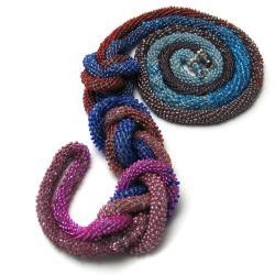naszyjnik,crochet rope,długi,maxi,elegancki - Naszyjniki - Biżuteria