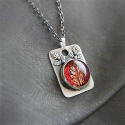 romantyczny,epicki,barwny,obrazek,listek - Naszyjniki - Biżuteria