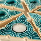 Ceramika i szkło lampion,świecznik,ceramika,turkus,trójkąt