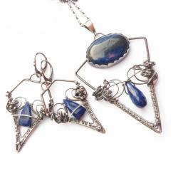 komplet,lapis,wrapping,misterny - Komplety - Biżuteria