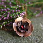 Naszyjniki miedziany,naszyjnik,kwiat,kwiatek,delikatny