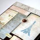 Notesy kalendarz książkowy,patchwork,wieża Eiffla