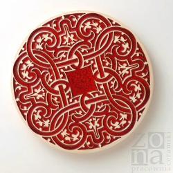 patera,czerwień,ornament,ceramika użytkowa - Ceramika i szkło - Wyposażenie wnętrz