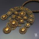 Naszyjniki haft koralikowy,ekskluzywny,naszyjnik