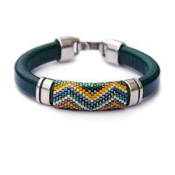 efektowna bransoletka,geometryczny wzór,lśniąca - Bransoletki - Biżuteria