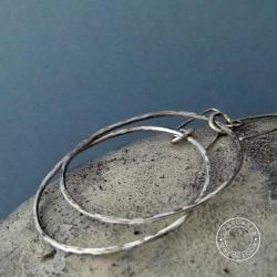 srebro,kute,koła,koło,surowe,oksyda,minimalizm, - Kolczyki - Biżuteria