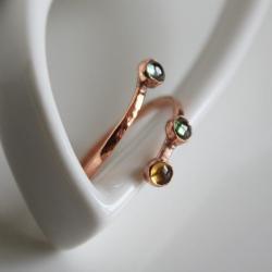 pierścionek z szafirami,szafiry,regulowany - Pierścionki - Biżuteria
