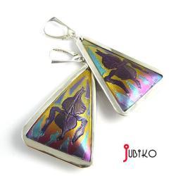 tytanowe,kolczyki,trójkąty,kolorowe,barwne - Kolczyki - Biżuteria