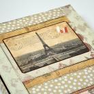 Notesy kalendarz książkowy 2015,patchwork,Paryż,Eiffla