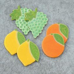 winogrono,owoce,magnesy,cytryna - Ceramika i szkło - Wyposażenie wnętrz