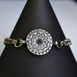 srebrna mandala,bransoleta ekskluzywna - Bransoletki - Biżuteria