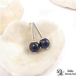 kolczyki,mini,minimalizm,małe,lapis lazuli,kulki - Kolczyki - Biżuteria