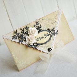 kartka,kopertówka,ślub,w dniu ślubu,na prezent - Kartki okolicznościowe - Akcesoria