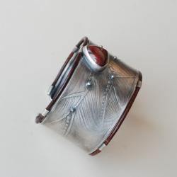 duża bransoleta,szeroka,masywna,nitza - Bransoletki - Biżuteria