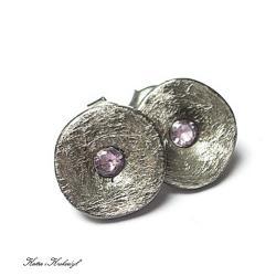 nowoczesne,surowe,sztyfty - Kolczyki - Biżuteria