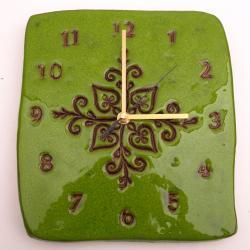 zegar ceramiczny,zegar,kafel,dekor - Zegary - Wyposażenie wnętrz