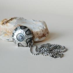 autorski,nitza,cyrkonia,fiolet - Naszyjniki - Biżuteria