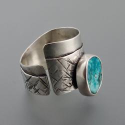 pierścionek z turkusem - Pierścionki - Biżuteria