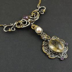naszyjnik,kolia,ekskluzywy,wrapping,złocony, - Naszyjniki - Biżuteria
