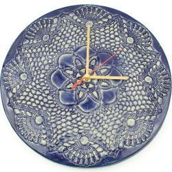 zegar ceramiczny,zegar koronka - Zegary - Wyposażenie wnętrz