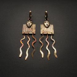 fiann,kolczyki z brązu,antyczne - Kolczyki - Biżuteria
