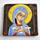 Obrazy ikona,Pneumatofora,Matka Boża,ceramika,obrazek
