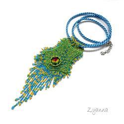 naszyjnik,lato,miętowy,błyszczący,niebieski - Naszyjniki - Biżuteria