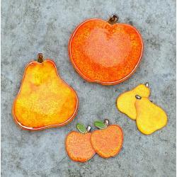 jabłko,gruszka,miseczki,magnesy - Ceramika i szkło - Wyposażenie wnętrz