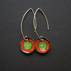 kolczyki kolorowe,bizuteria autorska,fiann - Kolczyki - Biżuteria