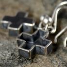 Kolczyki kolczyki,krzyż,srebrne kolczyki