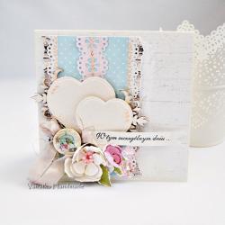 kartka,ślub,z okazji ślubu,shabby chic - Kartki okolicznościowe - Akcesoria