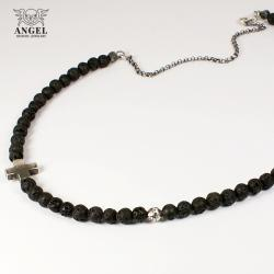 naszyjnik,srebro,krzyż - Dla mężczyzn - Biżuteria