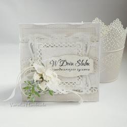 ślub,kartka,w bieli, - Kartki okolicznościowe - Akcesoria