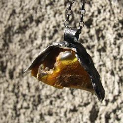 bursztyn,amber,surowy - Wisiory - Biżuteria