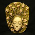 Ceramika i szkło maska,twarz,kobieta,aranżacja wnętrz,dekoracja