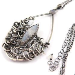 naszyjnik,wisior,wrapping,misterne,ślub - Naszyjniki - Biżuteria