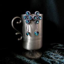 serca,geometryczne,efektowne,sztyfty,długie, - Kolczyki - Biżuteria