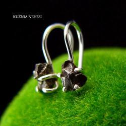 Nehesi,Kolczyki,ze Srebra,meteoryt,małe,kosmos - Kolczyki - Biżuteria