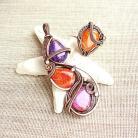Komplety komplet,biżuteria,kolorowy,pomarańczowy