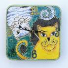 Zegary zegar,kot,koty,ceramika