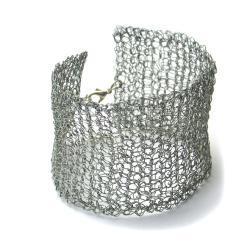 bransoletka,szydełko,minialistyczna,siateczka - Bransoletki - Biżuteria