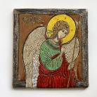 Ceramika i szkło anioł,ikona,obraz,ceramika,Gabriel