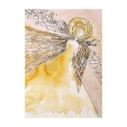 anioł,skrzydła,kobieta,grafika,na ścianę,wnętrze, - Ilustracje, rysunki, fotografia - Wyposażenie wnętrz