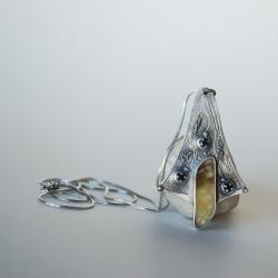 autorska,bursztyn, - Naszyjniki - Biżuteria